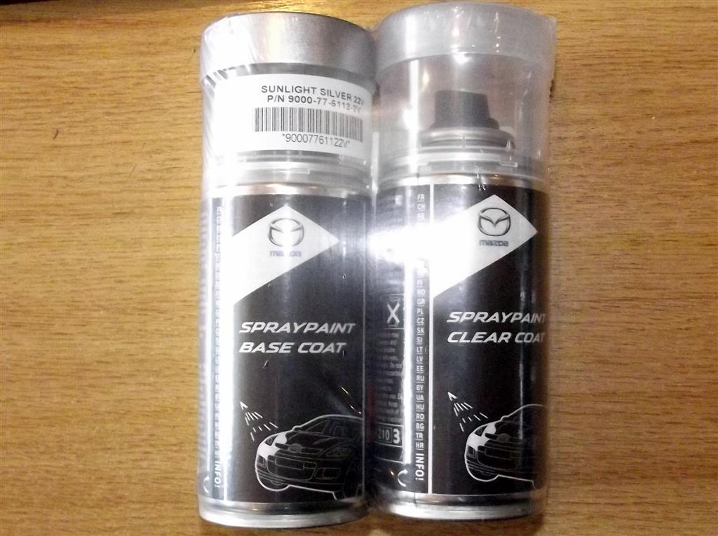 Paint Spray Kit Genuine Mazda 22v Sunlight Silver