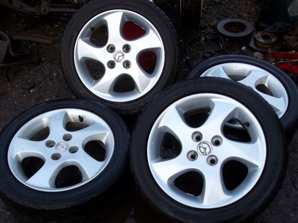 wheels set of 4 mazda mx5 15 with 195 50 tyres used. Black Bedroom Furniture Sets. Home Design Ideas
