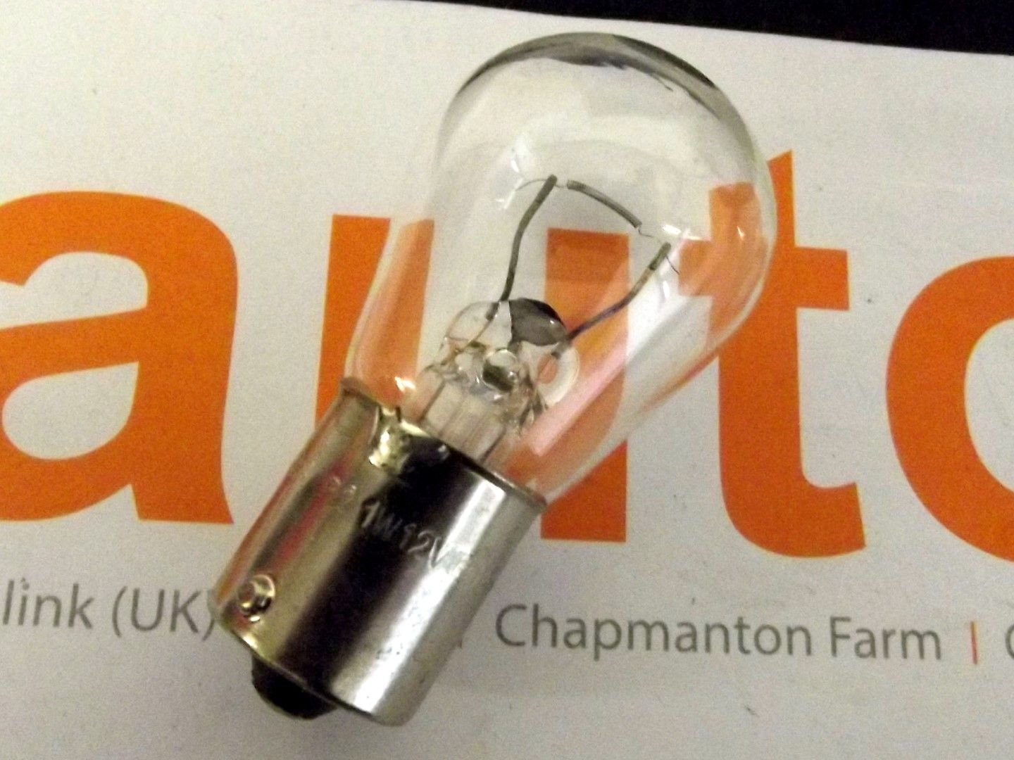 Bulb, 12v 21W, indicator light & reverse lamp, clear, bayonet