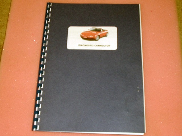 Diagnostic Connector manual / book, Mazda MX-5 mk1 & mk2