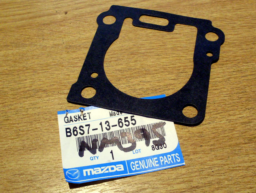 Gasket, throttle body to inlet manifold, genuine Mazda MX-5 mk1 1.6, B6S713655