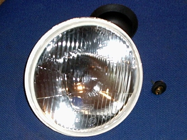 Headlamp unit, 7'' halogen, with bulb, Mazda MX-5 mk1, etc. RHD