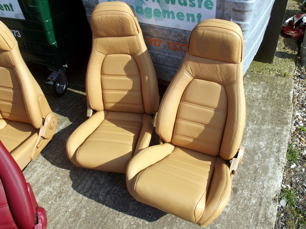 Seats Mazda Mx 5 Pair In New Tan Leather Eunos Roadster V Special High Back Mk1
