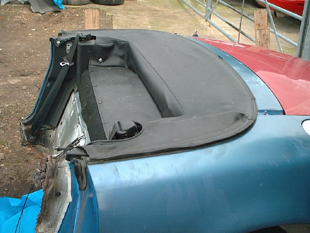 Fuel Induction Service >> Soft top cover Mazda MX-5 mk1 black vinyl half tonneau USED