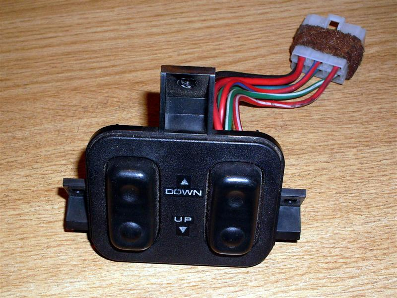 Switch, electric windows, MX-5 mk1, short cable, USED